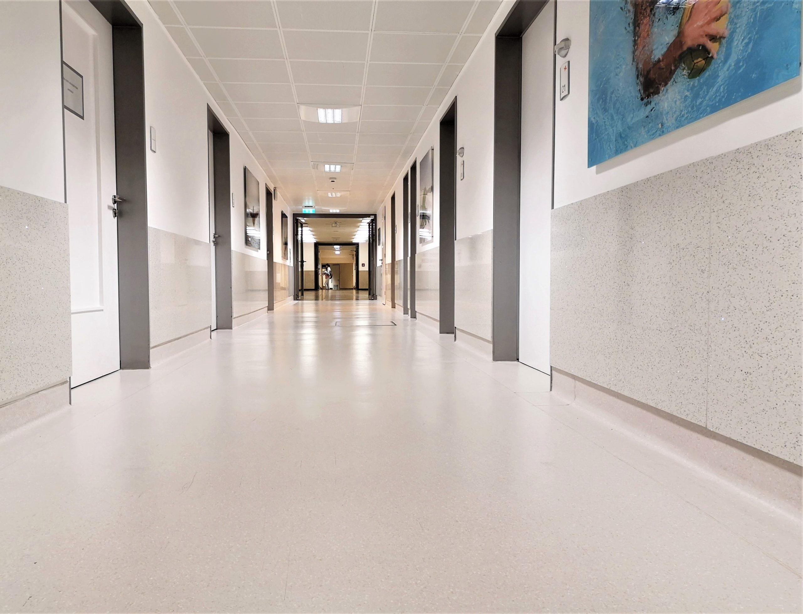 Wandverkleidung-Rammschutzplatten-hell-Flur-einfache-Reinigung